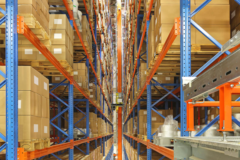 Automated storage and retrieval system stock image
