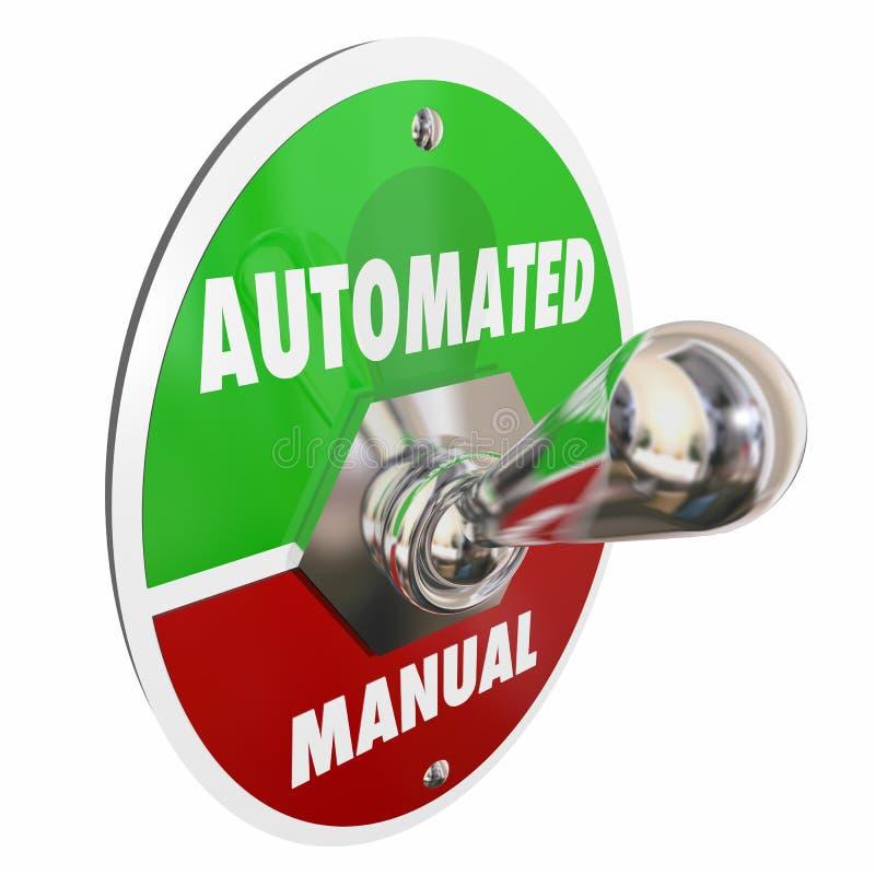 Automated Vs Manual Tasks Work Automation. 3d Illustration stock illustration