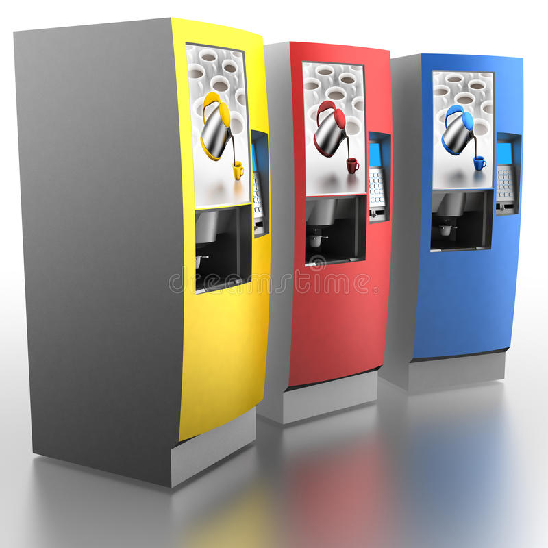 Automaten (koffiemachines) royalty-vrije illustratie