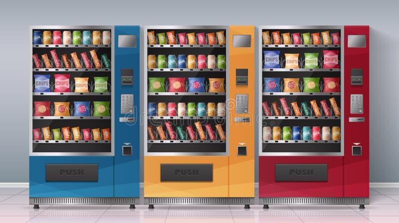 Automaten Realistische Vectorillustratie royalty-vrije illustratie