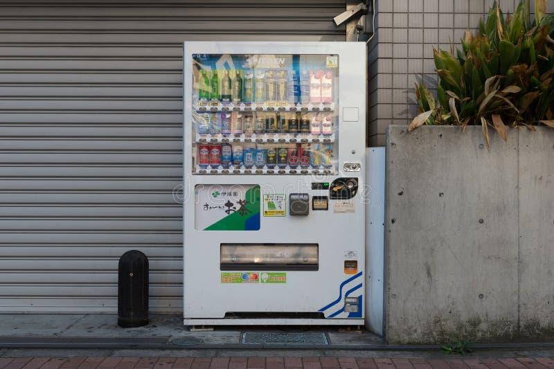 Automaten van diverse bedrijven in Tokyo royalty-vrije stock afbeelding