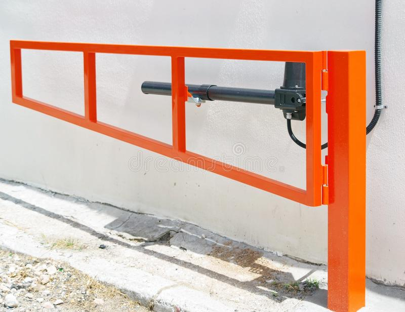 Automatic barrier gates stock photo  Image of entry - 121336396