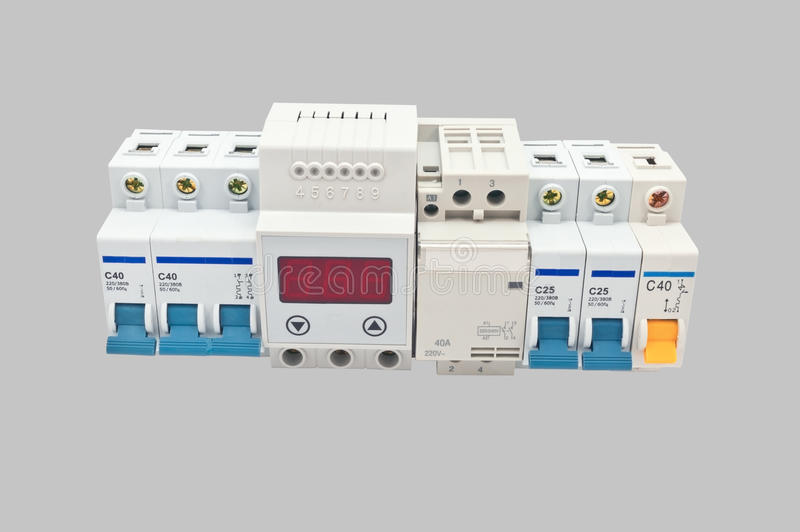 Automatic Circuit Breaker Royalty Free Stock Photography