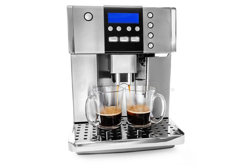 Automatic coffee maker for two cups of coffee royalty free stock images