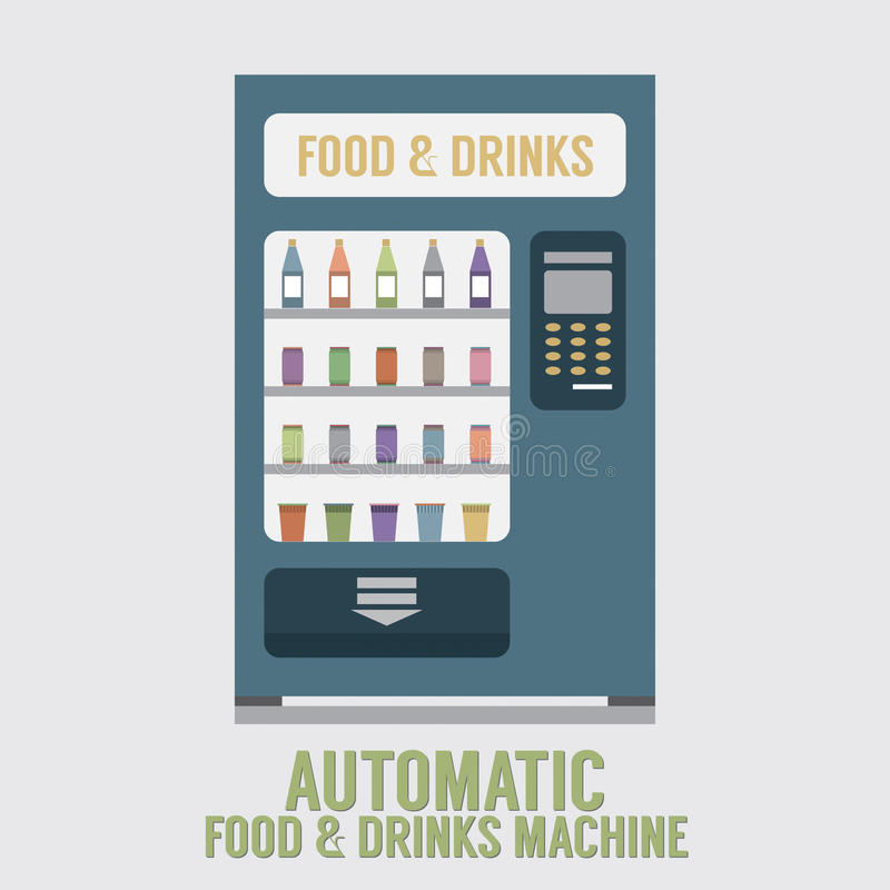 Automatic Food And Drinks Machine. Vector Illustration vector illustration