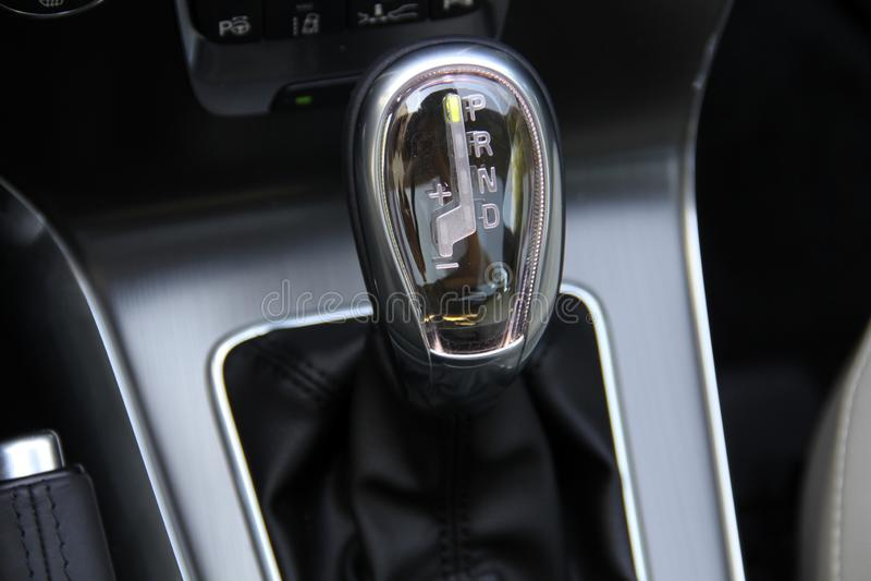 Automatic gear shift stock photos