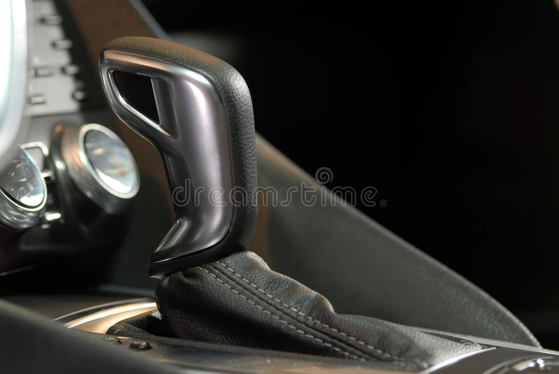Automatic gear shift handle royalty free stock image