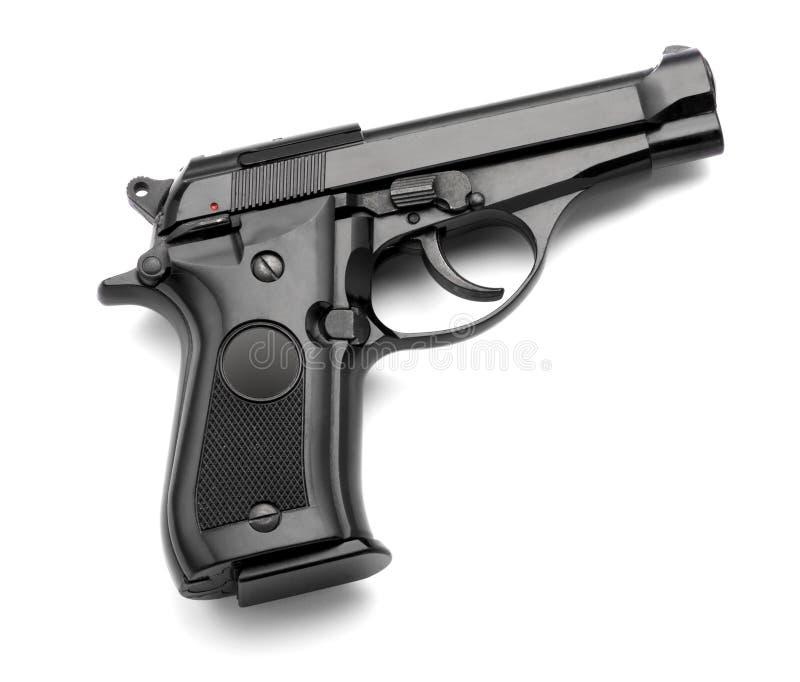 Automatic handgun on a white background royalty free stock photos