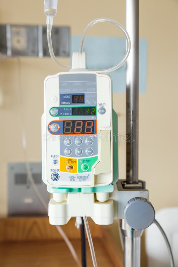 Automatic infusion pump of IV drop stock photography