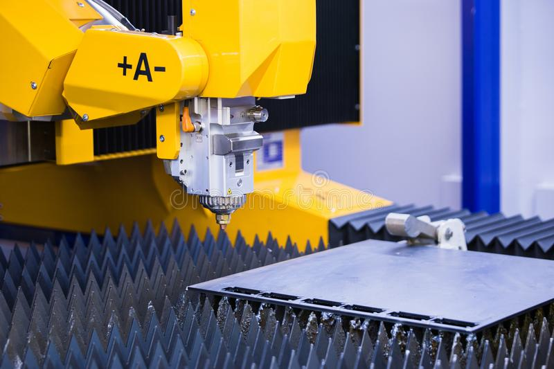 Automatic machine for cutting metal. stock photo