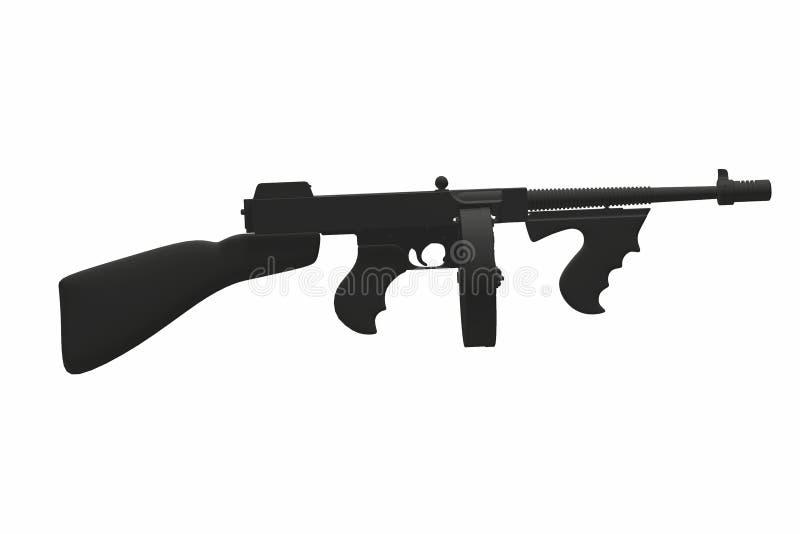 Download Automatic machine gun stock illustration. Image of white - 28805697