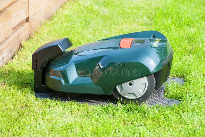 Automatic mower stock photos