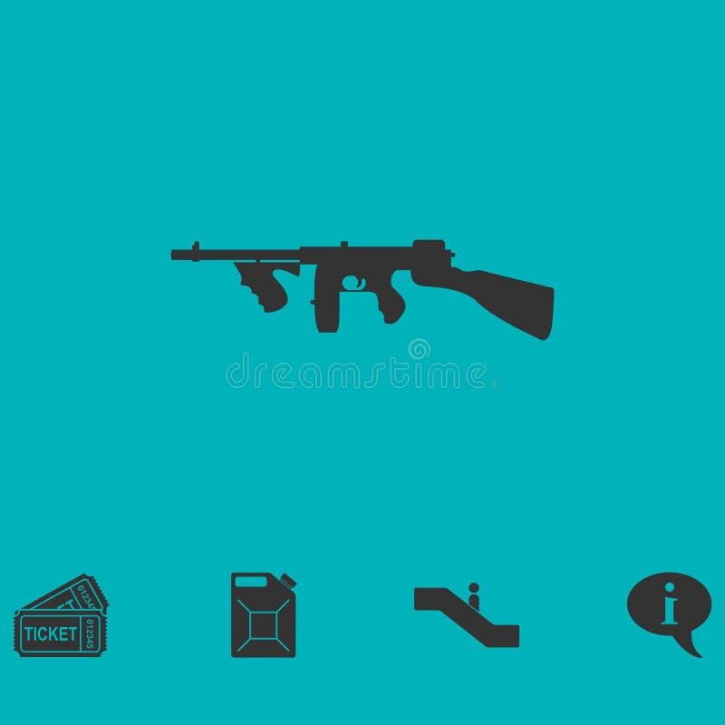 Automatic Rifle icon flat royalty free illustration
