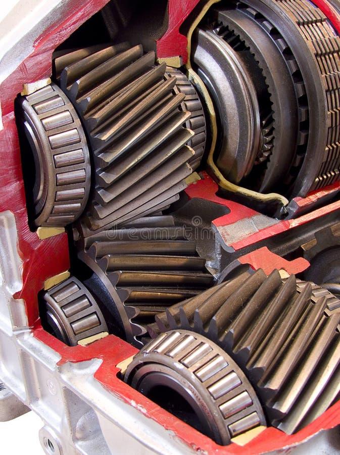 Modern car transmission gears stock photo