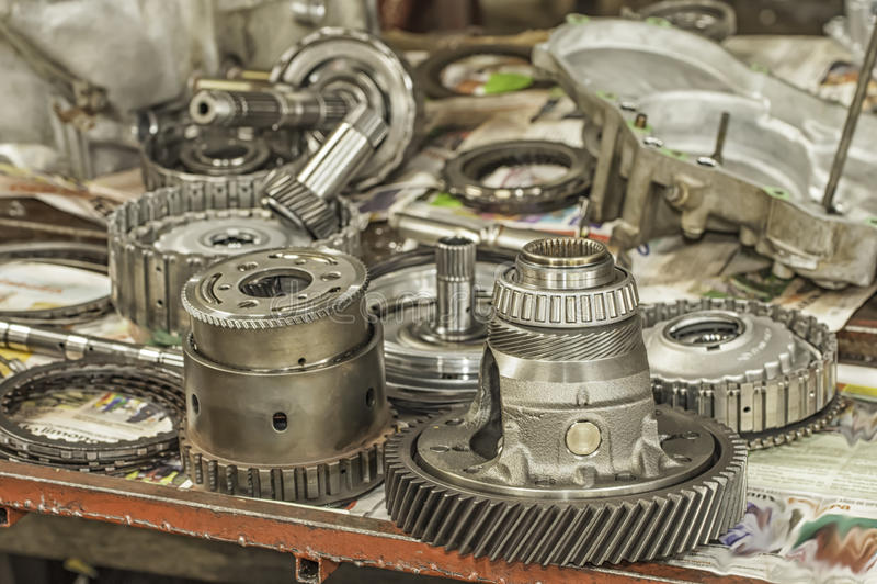Automatic Transmission Parts stock photo