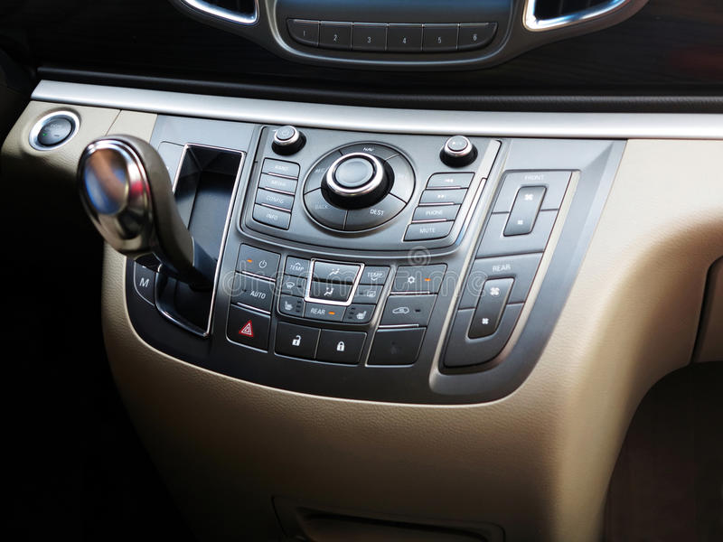 Automatic Transmission,Super Sport Car Interior. Automatic Transmission in super sport car interior royalty free stock photo