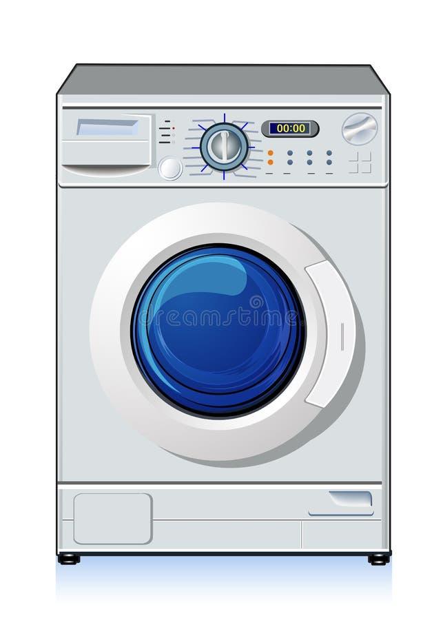 Automatic washing machine. Vector art illustration of home appliances royalty free illustration