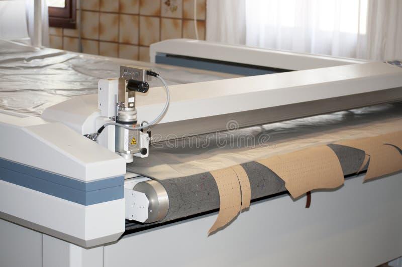 Automatically Cutting Textile Web Stock Photo