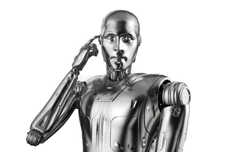 Automation analysis technology royalty free illustration