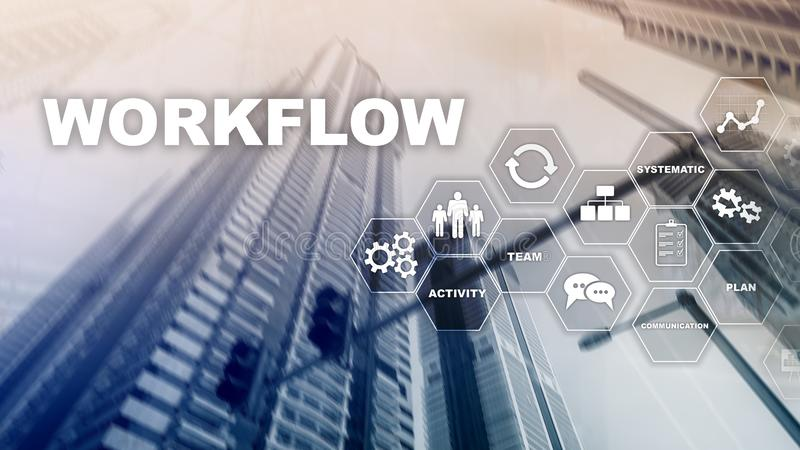 Automation of business workflows. Work process royalty free stock images