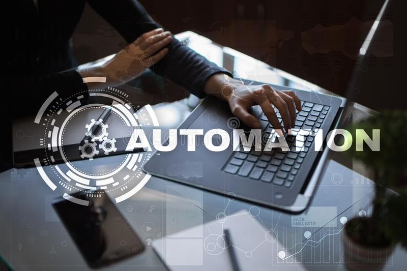 Automation concept as an innovation, improving productivity in technology and business processes. royalty free stock photography
