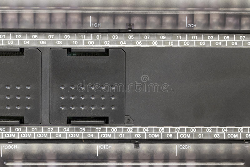 Automation de PLC dans une industrie images stock
