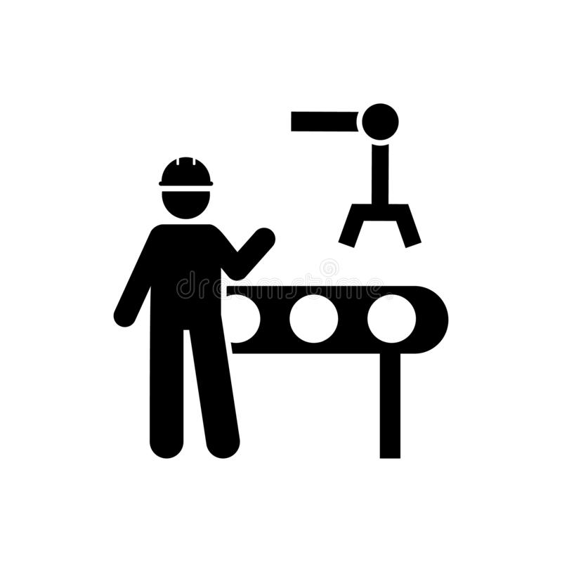 Automation, engineering, maintenance, worker icon. Element of manufacturing icon. Premium quality graphic design icon. Signs and. Symbols collection icon for stock illustration
