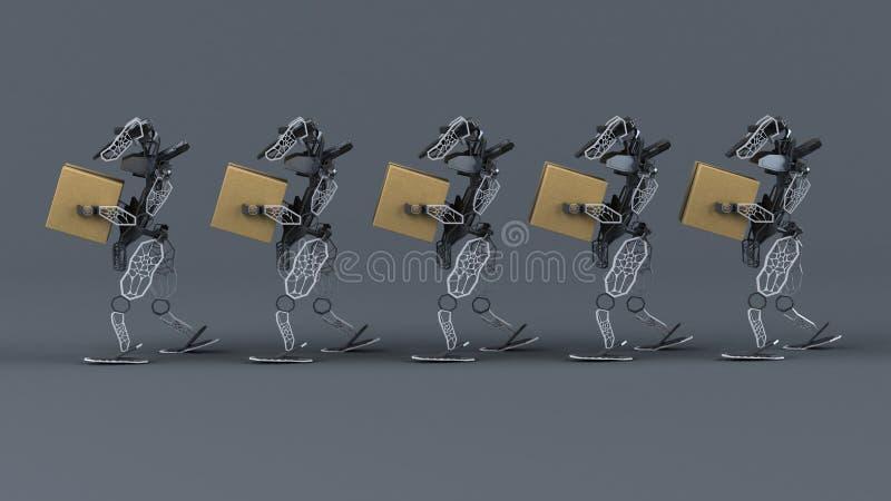 Automation générative - illustration 3D images libres de droits