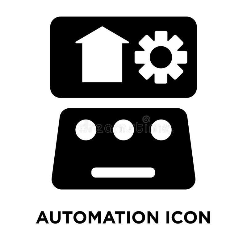 Automation icon vector isolated on white background, logo concept of Automation sign on transparent background, black filled stock illustration