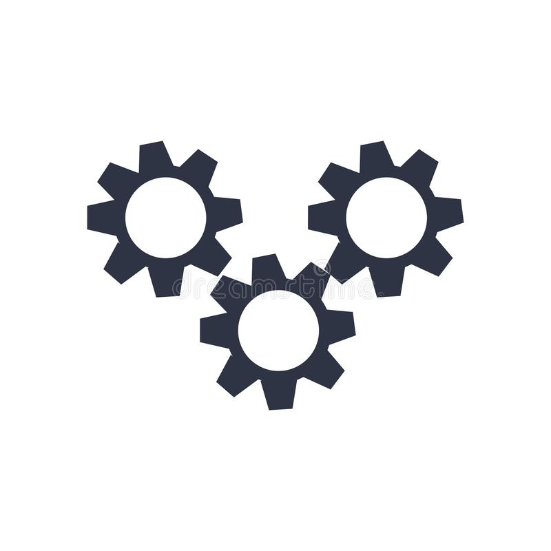 Automation icon vector sign and symbol isolated on white background, Automation logo concept royalty free illustration
