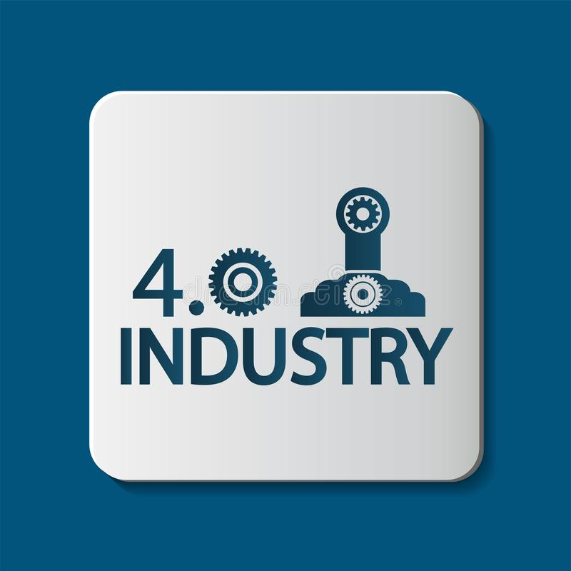 Industry 4.0 icon,Technology concept. illustration royalty free illustration