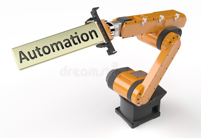 Automation metal sign royalty free illustration