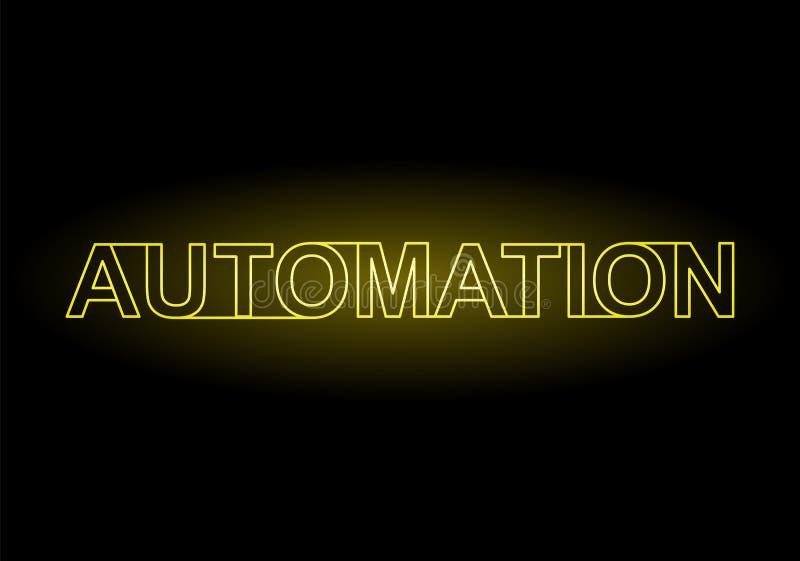 Automation Neon Sign vector illustration