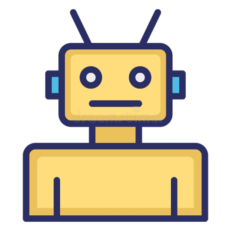 Automation, robot isolated Vector Icon which can easily modify or edit royalty free illustration