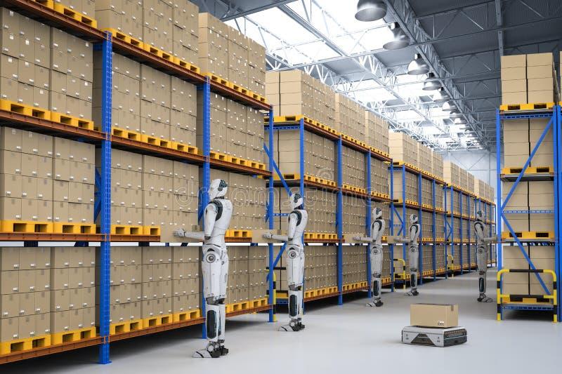 Automation warehouse concept stock illustration