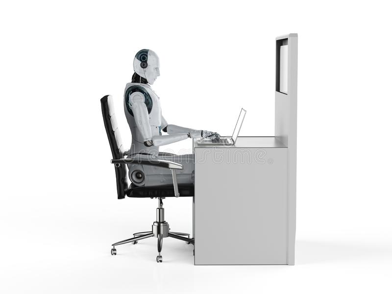 Automation worker concept royalty free stock images