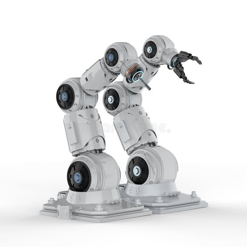 Automationrobotarmar vektor illustrationer