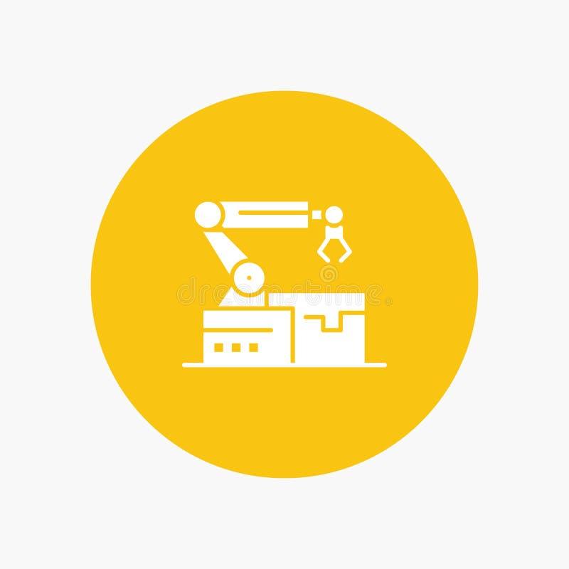 Automatisé, robotique, bras, technologie illustration libre de droits