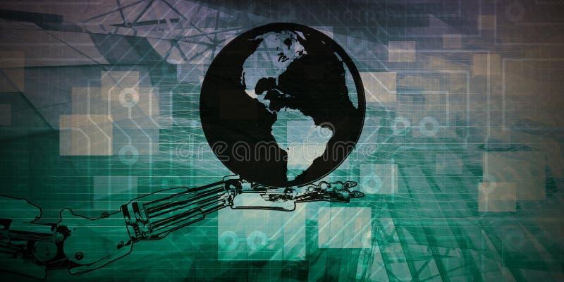 Automatisation des processus robotique illustration libre de droits