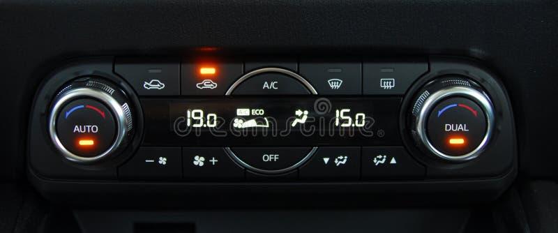Automatische AutoAirconditioner stock afbeelding