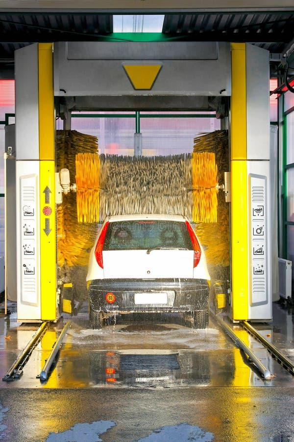 Automatische carwash stock afbeeldingen