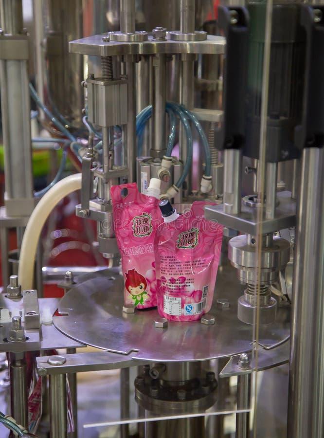 Automatische de verpakkingsmachine van de spuitenzak royalty-vrije stock fotografie