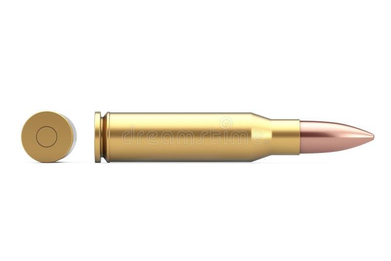 Automatische Gewehre 7 62 Millimeter-Kaliber-Metallkugel Wiedergabe 3d vektor abbildung