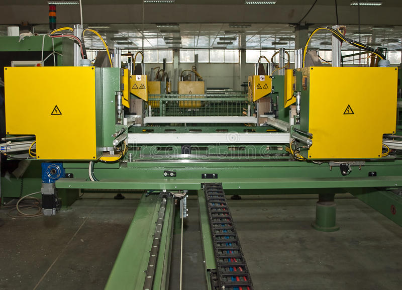 Automatische lassenmachine stock foto