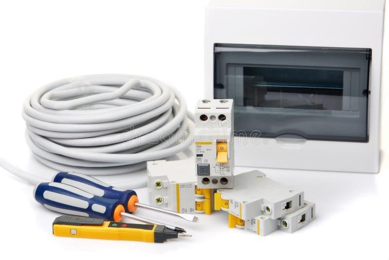 Automatische stroomonderbrekers Elektro apparatuur royalty-vrije stock afbeeldingen