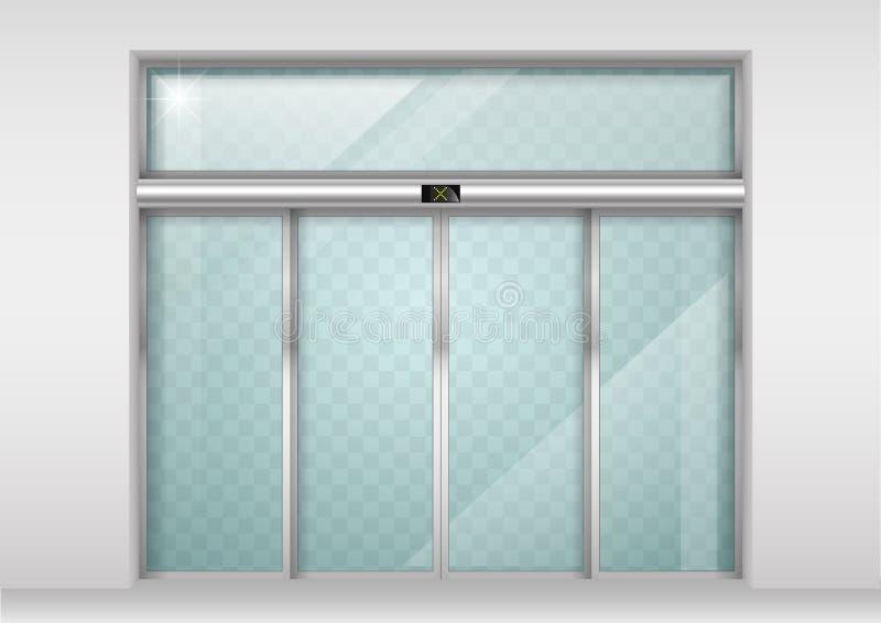 Automatische Türen des gleitenden Glases vektor abbildung