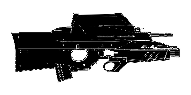 Automatische Waffen-Vektor 01 Lizenzfreie Stockfotografie