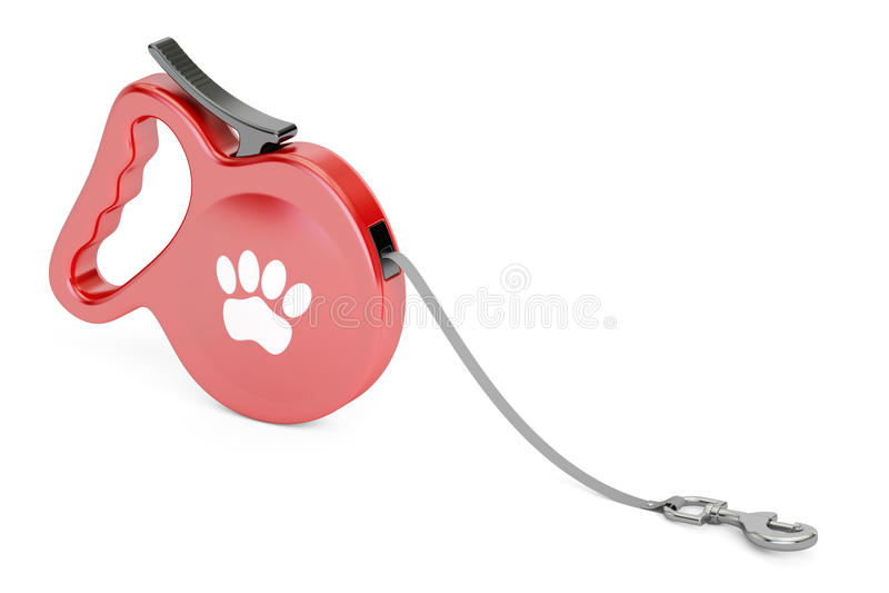 Automatisches einziehbares Zugseil Gehende Führungs-Leine für Hund stock abbildung