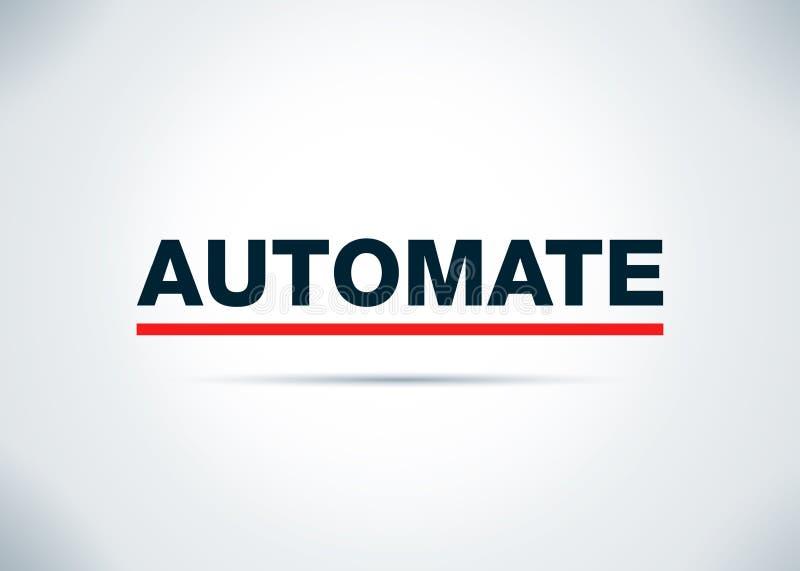 Automatisera den abstrakta plana bakgrundsdesignillustrationen royaltyfri illustrationer