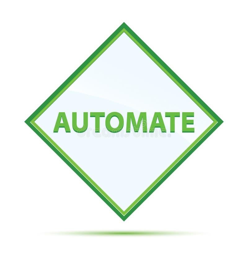 Automatisera den moderna abstrakta gröna diamantknappen royaltyfri illustrationer